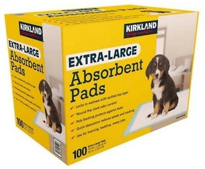 Kirkland extra-large absorbent puppy training pads (Pack of 100) 76cm x 58cm