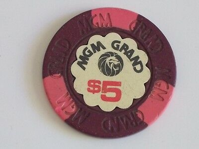 MGM Grand Casino Chip $5.00  9th issue