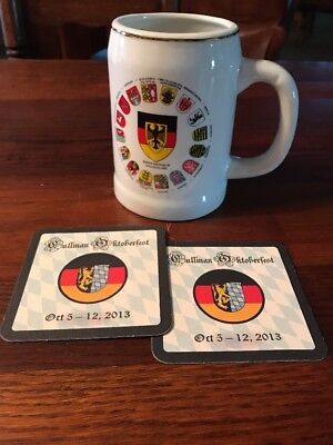 2013 CULLMAN OCTOBERFEST Beer Bar Coasters & OCTOBERFEST Beer Stein Mug
