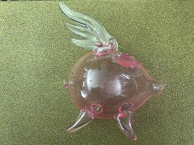 Collectible Blown Glass Pig