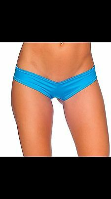 Bodyzone Super Micro Booty Shorts Turquoise Stripper Exotic Dancer Bottom