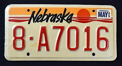 "NEBRASKA "" SUN ""  DISCONTINUED !! 1989 NE Vintage Classic Graphic License Plate"