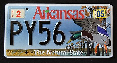 """ARKANSAS """" WILDLIFE  DUCK - NATURAL STATE """" AR SPECIALTY License Plate"""