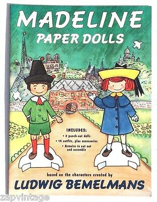 Vtg NEW 1994 Madeline (House In Paris) Paper Dolls Ludwig Bemelams Book Booklet