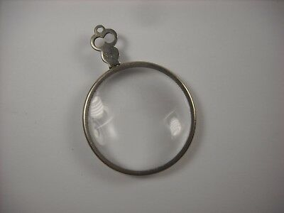 Antique Magnifying Glass +16.0 very high magnification optical lens monocle
