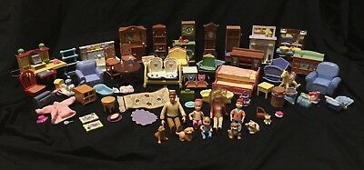 Fisher Price Mattel Loving Family Figures Furniture  and Accessories  Lot