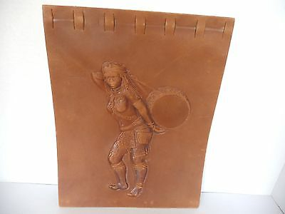 Vintage Embossed Leather Calendar Cover Unknown Zulu Woman Africa
