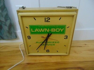 Vintage Lawn Boy Authorized Dealer Wall Clock 1960s Or 1970s