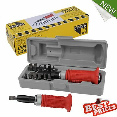 14 Pcs Heavy Duty Impact Driver Bits Screwdriver Set Tool Socket Kit with Case A