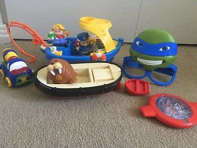 Fisher Price BOATS bulk boys girls kids TOYS baby Little People bundle