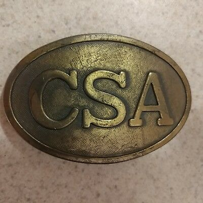 CSA Brass Colored Reproduction Belt Buckle - Civil War - Free Shipping!