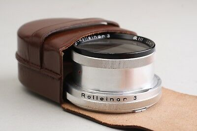 Rolleiflex Rolleinar 3 Close Up Filter Bay III  Rollei leather case 2.8 f tlr