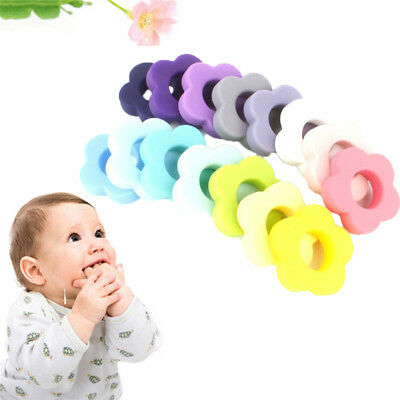 1PC Flower Silicone Teething Bead DIY Chew Necklace Pendent Baby Teether Making
