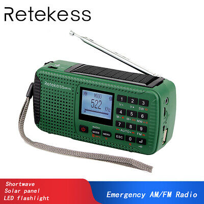 Portable FM/MW/SW Hand Crank Emergency Radios Bluetooth MP3 Player Recorder AU