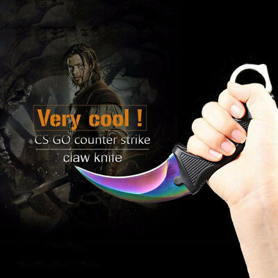CS GO Counter Strike Karambit Claw Knife Blade Tactical Survival Neck Knives