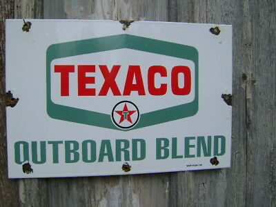 Big Texaco, Marine outboard oil, real porcelain sign,TEXACO PUMP,TEXACO SIGN,GAS