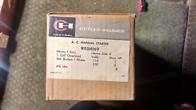 Cutler-Hammer Ac Manual Starter 9115H169 New