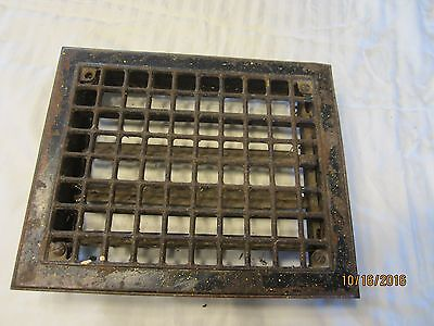 Antique Metal Floor Grate 11 3/4 inch X 9 3/4 inch