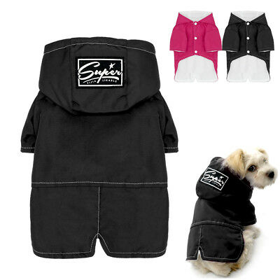 Waterproof Warm Dog Clothes Winter Lined Fleece Pet Jacket Coats Hoodies S M 2XL