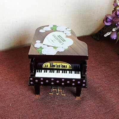 Creative Plastic cement Handmade Rotating Girls Piano Model Music Box 6323915