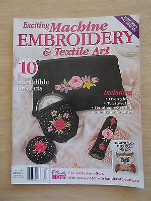 Machine Embroidery & Textile Art Vol 21 #2~Kitchen Acc~Bag~Quilt~Runners~Mum....