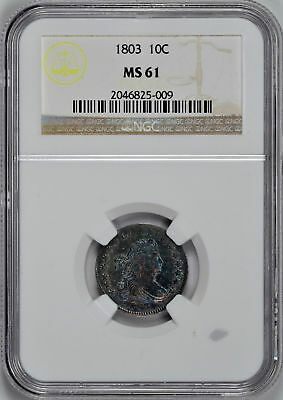 1803 Draped Bust 10C Ngc Ms 61