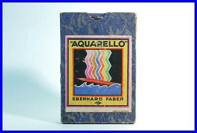 "um 1920 EBERHARD FABER "" Aquarello "" No 4601 - 7 Buntstifte / 7 coloured pencils"