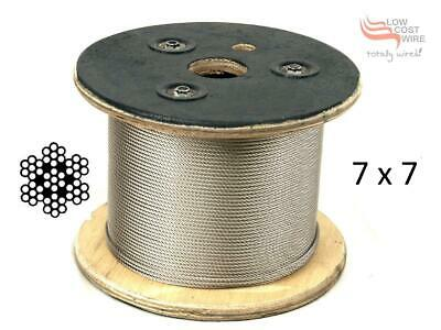 Marine Grade Stainless Steel Wire G316 Wire Balustrade Cable Rope 2.4 mm  7x7