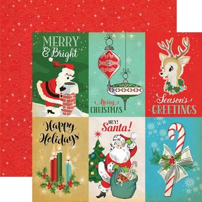 """Carta Bella - A Very Merry Christmas - 4x6 JOURNALING CARDS 12x12"""" d/sided paper"""