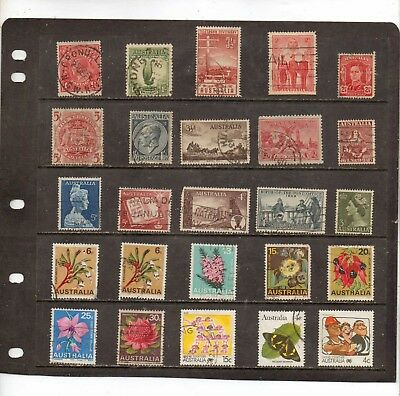 Australia Used; A Mixed Year Lot From Some First Stamps.  Lot  1