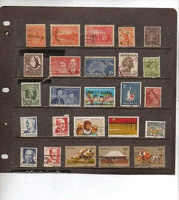 Australia Used ; Nice Starter Or Fill In Lot All Different Stamps So Bid. Lot 2