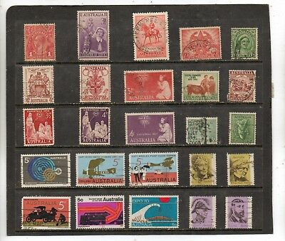 Australia Used; A Nice Starter Or Fillin Lot,mixed Years All Diff.so Bid.  Lot 3