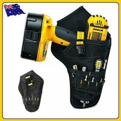Heavy Duty Drill Drive Holster Cordless Tool Bit Holder Belt Pocket Pouch Bag AU