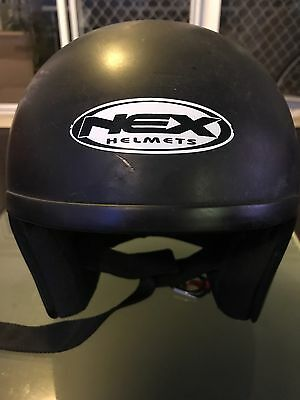 Nex Open Face Motorcycle Helmet (LARGE)