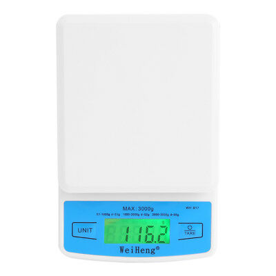 0.1g-3kg Electronic LCD Digital Jewelry Scale Kitchen Food Weighing Accuracy ABS