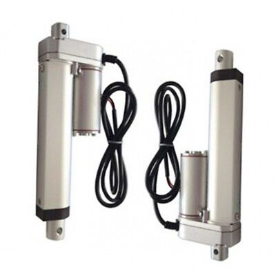 "2 sets Heavy Duty Linear Actuator 6"" Inch Stroke 225lb Max Lift Output 12Volt DC"