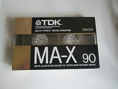 TDK MA-X 90 METAL audio CASSETTE TAPE, New unopened, made in Japan,max90 max-90n