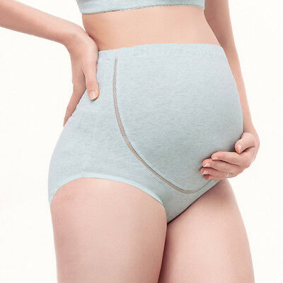 Woman Comfy Cotton Breathable High Waist Pregnant Panties Belly Care Maternity U