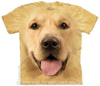 Golden Retriever Face T-Shirt in Adult Sizes - Dog Breeds by The Mountain Tees
