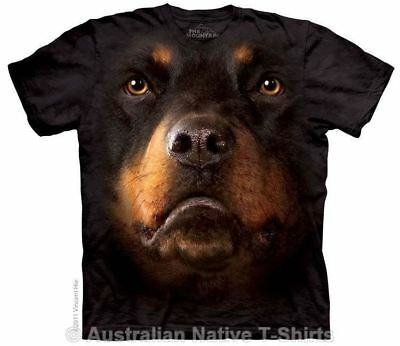 Rottweiler Face T-Shirt - Dog Breed Tees by The Mountain T-Shirts