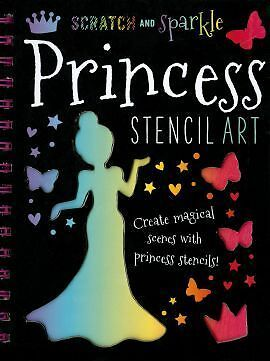 Scratch and Sparkle Princess Stencil Art Novelty book New Book Free UK Delivery