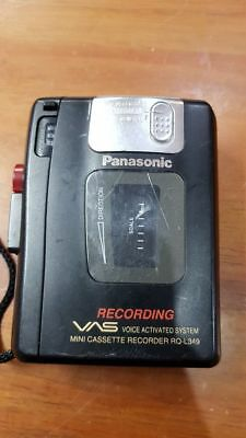 panasonic RQ-L349 casette recorder with speaker and mic