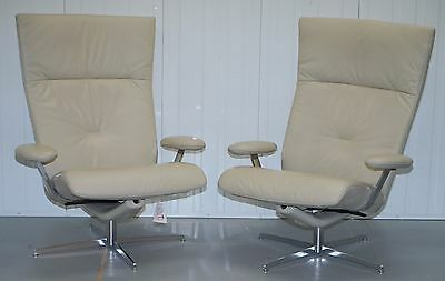 1 Of 2 New Rrp £1499 John Lewis Fjords Motionconcept Ascari Leather Armchairs