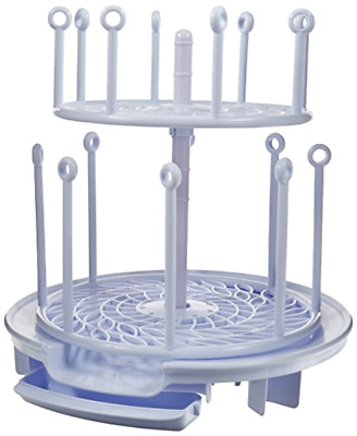 Spin Stack Drying Rack with Two Adjustable Spinning Levels Holds Upto 16 Bottles