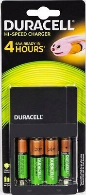 Duracell High Speed AA/AAA Battery Charger With Batteries CEF14