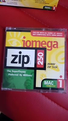 1x Iomega Zip Disk - Iomega 250 MB New (mac formatted)