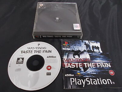 PS1 Playstation 1 Pal Game WU-TANG:TASTE THE PAIN with Box Instructions