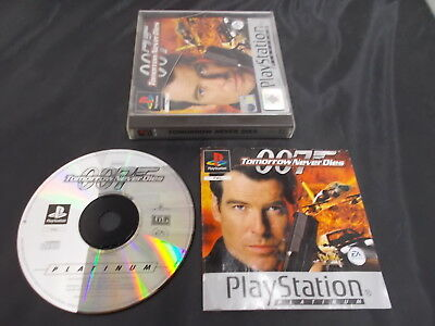 PS1 Playstation 1 Pal PLATINUM Game TOMORROW NEVER DIES with Box Instructions
