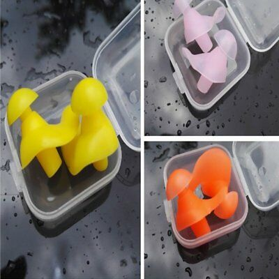 1 pair Reuseable Water SPORTS Kids Swimming Diving Ear Plugs Waterproof TU