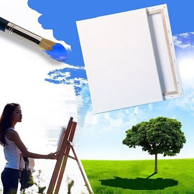 Blank Square Canvas Board Wooden Frame For Art Artist Oil Acrylic Paints TU